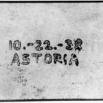 Erste Xerografie 10.-11.-38 ASTORIA
